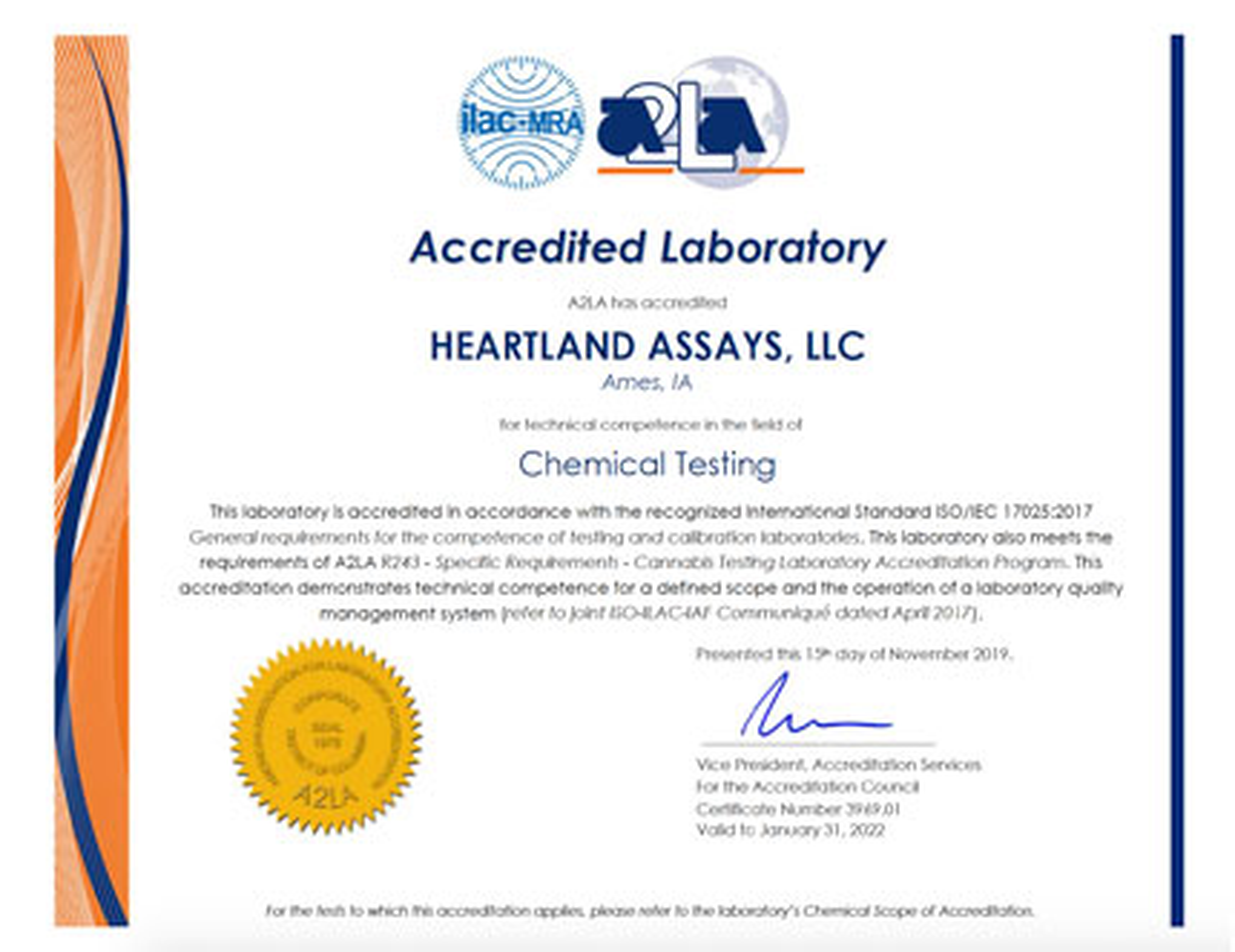 Isoiec 170252005 Accredited Testing Heartland Assays